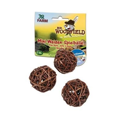 JR-Farm Mr.Woodfield Mini Weiden-Spielball 3er