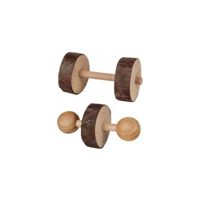 Dřevěné činky 4,5x9 cm (2 ks)