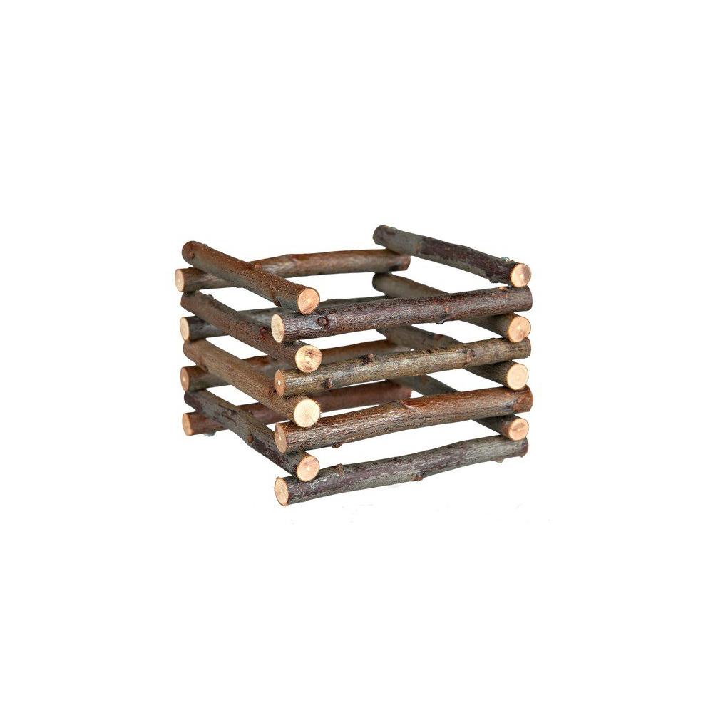 Heuraufe aus Holz 15x11x15cm