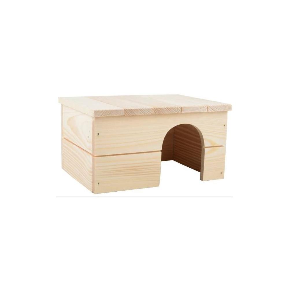 Domek ze dřeva rovná střecha 35x25x19cm