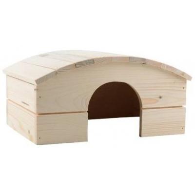Domek ze dřeva oblouková střecha 30x22x16cm