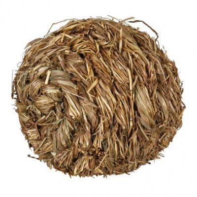 Míček z trávy s rolničkou 6cm